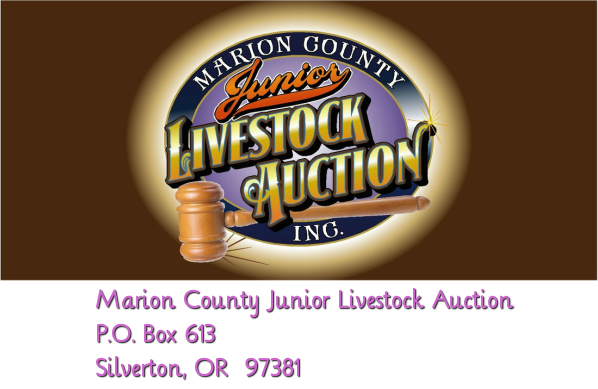 Marion County Junior Livestock Auction, Inc.<br />P.O. Box 613<br />Silverton, OR  97381